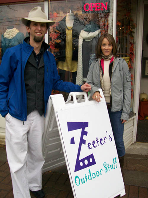 Pictured from Zeeter's are Jeff Deming and Pamela Pedley-Deming.