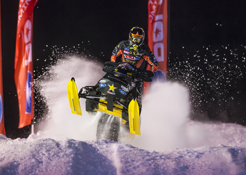 AMSOIL Championship Snocross racer Tim Tremblay. (photo courtesy of Lissa Marsolek/ISOC)