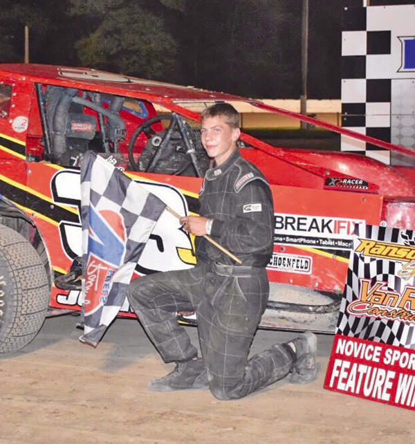 Robbie Johnston's mother took this picture of her then-14-year-old son and his racecar last season at Ransomville Speedway.
