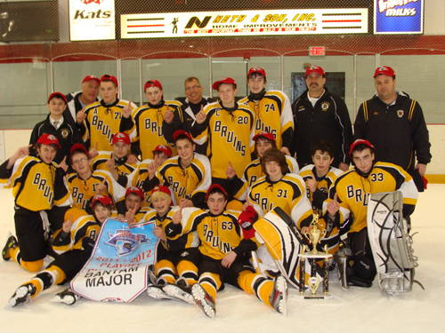 The team includes, from left, front row: Gage Hollar, Robbie Nappo (Grand Island), Evan Domiano, Brad Hejmanowski, Aaron Nowak, Garrett Varisco. Second row: Stephen Wisniewski, Michal Swacha, Chris Barth, Alan Szumla (Grand Island), Thomas Major (Grand Island), Matt Metz and Ryan Coppins. Back row: Zach LaGamba, Head Coach Bill Cline, Pavel Kovtunov, Mason Cool, Assistant Coach Mark Major, Jeff Wawrzynek, Griffin Spatorico, Assistant Coach Daryle Gronowski and Asst Coach Robert Nappo. Not pictured: Christopher Harvey.