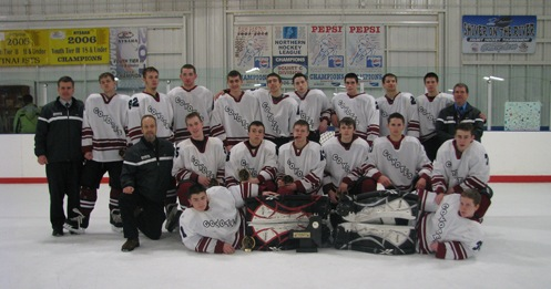 The Coyotes are shown, from left, front row, Kyle Flierl, Jim McNeight; middle row, Coach Marv Pawlowski, Mike Brydges, Zac Sorotre, Cameron Koop, Adam Stanczyk, Corey Regester, Jake Lawley; back row, Coach Kirk Lawley, Bill Woodley, Joe Hinkle, Aaron Schauger, Mark Grozio, Antonio Guerrucci, John McCasey, Tyler Scriven, John Conti, Joshua Ungaro, Head Coach David Ungaro.