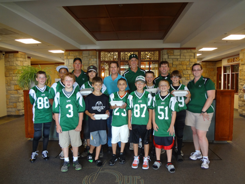 Lew Port Youth Football held its annual football tournament on Aug. 25 and 26. The event included a chicken barbecue on Sunday as a fundraiser.