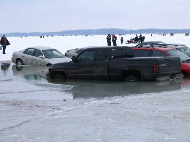 Ice Fishermen Relax Don T Push Your Luck