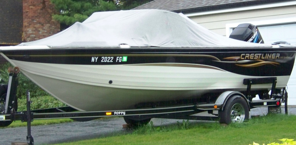 Dave Adelisi's love affair `dry docked` in his driveway for the season.