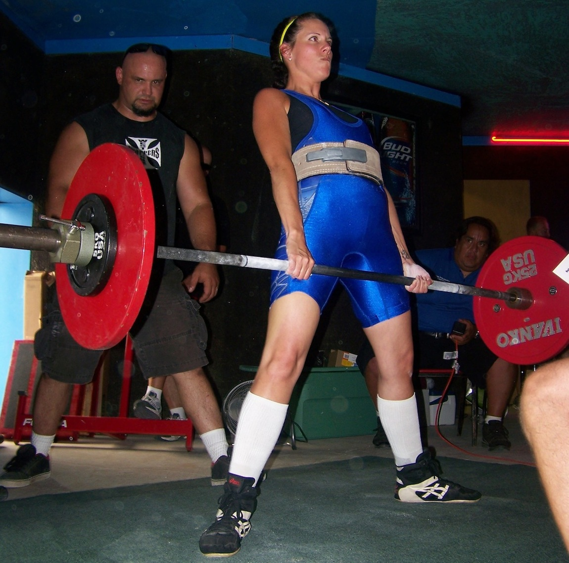 Stacey Zahno competes in a recent lifting competition.