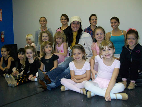 Adell Hoover-Wizner, pictured center, enjoys teaching dance to her students.