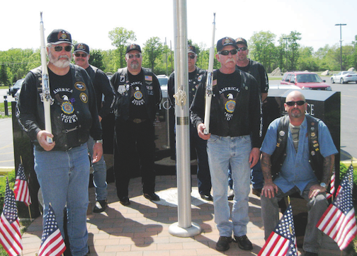 Wheatfield Post No. 1451 American Legion Riders pictured, from left: (front row) Murray Young, Dennis Mills, William MacIver and (back row) Sam Reeder, Gary Coons, Alan Guzak and William Love.