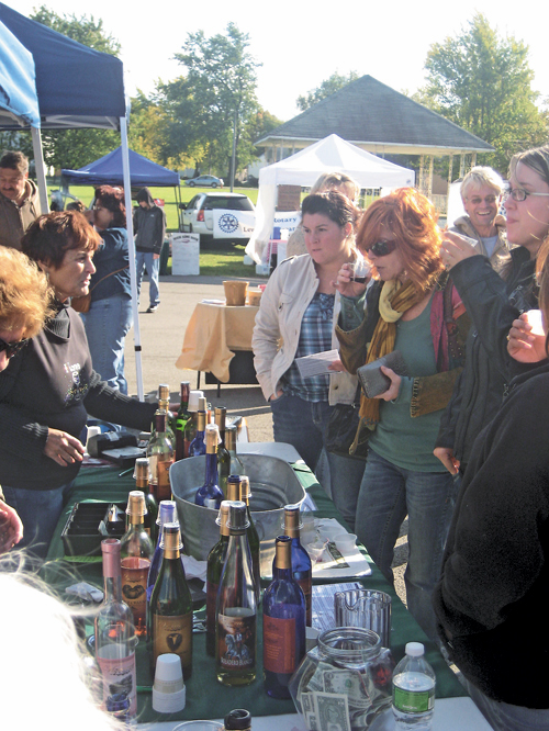 Shown is a previous Winetique event at the Sanborn firehall.