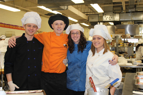 Shown is the Niagara Career and Technical Education Center Team, from left, Joshua Baptiste (Niagara-Wheatfield), Kode Engel (Niagara-Wheatfield), Alycia Palame (Niagara-Wheatfield) and Felicia Gane (North Tonawanda).