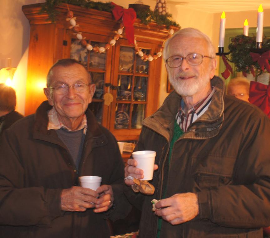 Pictured, from left, are Don Stellrecht and Roger Covell at last year's `Winterfest Eve` at the Col. Wm. Bond/Jesse Hawley House.