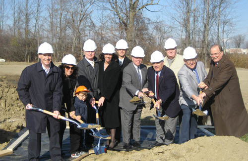 Shown from left are Mike Sloma, owner, Apollo; Bernie Sloma and Mike Sloma Jr. of Apollo; Henry Sloma, chairman Niagara County IDA; Bonnie Gifford of Apollo; Ken Franasiak, CEO of Calamar; Robin Schimminger, state assemblyman; William Ross, Niagara County Legislature chairman; Don Proefrock of the Wheatfield Planning Department; Bob Cliffe, Wheatfield town supervisor; and Jim Ward, representing State Sen. George Maziarz.