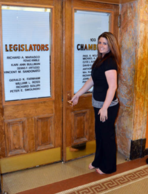 New 6th district Legislator Brittany Catchpole, D-Town of Niagara, is on her way in the Niagara County Legislature. (photo by Marc Carpenter)
