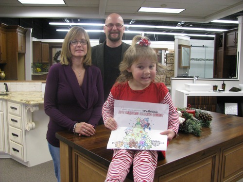 In the photo at are Kinetic Kitchen and BathPlanet's Tina Battey, CEO, and Randy Kaminska, president, with Mackenzie Hardy, the second-place winner in the 4-to-6-year-old division. Other winners in that group were Abagail Derinzio, first, and Emma Green, third.