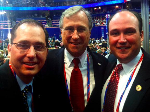 Niagara County Republican Chairman Michael J. Norris, left, with New York State Republican Chairman Ed Cox (middle) and Erie County GOP Chairman Nick Langworthy.