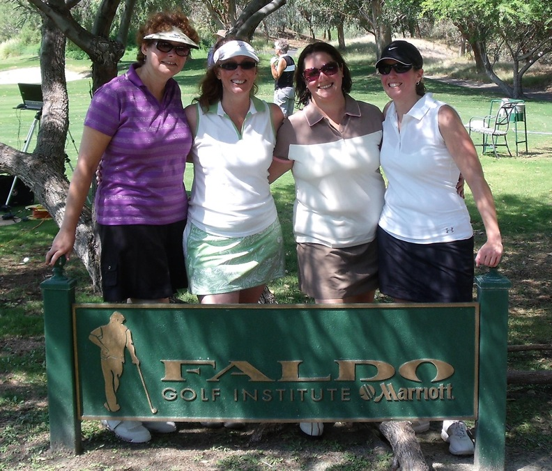 Last year's Golf Raffle grand prize trip winner was Sheila Cianflone, who commented that it was a `trip of a lifetime - PGA instructor Michael Ellis did an amazing job with our lessons and we had a great time playing on Shadow Ridge's course, which was extremely impressive.` Taking a break from the links are, from left, Darlene Feskun, Cianflone, Gillian Wellman and Carolyn Adams. Tickets are on sale now for this year's Golf Raffle. Call 297-6400, ext. 335.