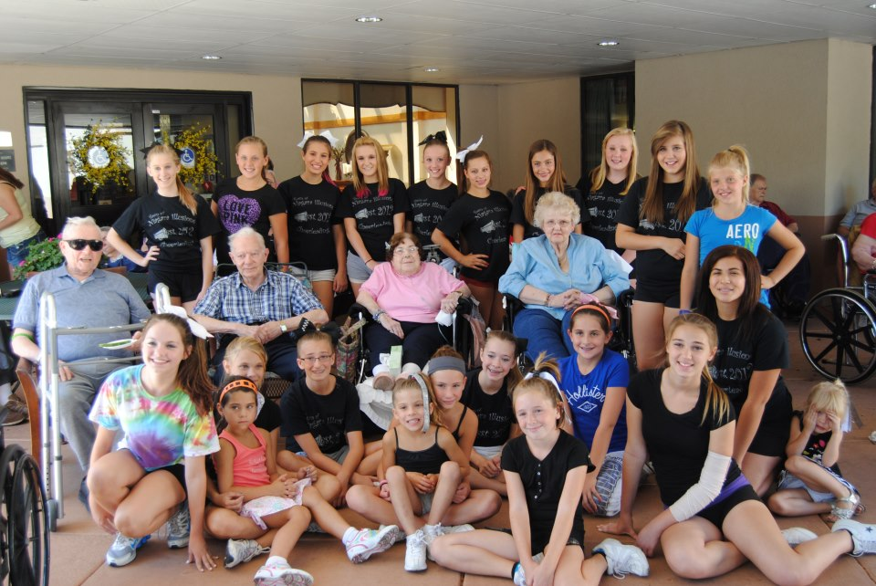 Members of the Town of Niagara Illusions Cheerleaders performed in August at Northgate Manor.