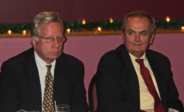 State Sen. George Maziarz (right) shown with NCBA Executive Officer Jerry O'Neill.