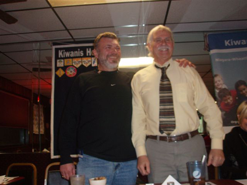 Pictured above, new member Greg Ford, left, was sponsored by Gary Heuck.