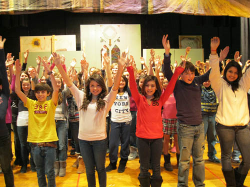 Edward Town Middle School students are working hard, rehearsing for their Jan. 27-28 production of `Beauty and the Beast.`