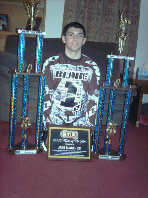 Starpoint High School sophomore Jake Blake was surprised and honored to be chosen as the Western New York Motocross Association's Rider of the Year.