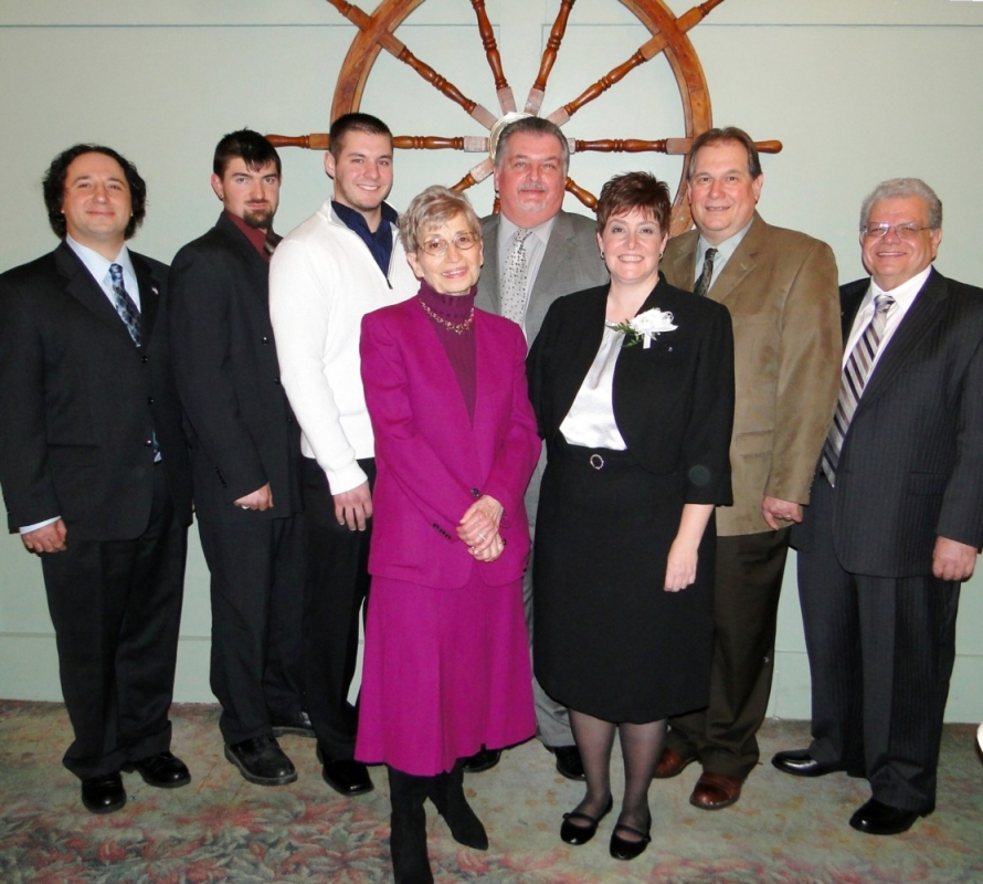 The Town of Niagara Business and Professional Association honored several businesses and businesspeople at its annual awards dinner in January. Among the honorees were (Row 1) Marie-Therese Frieri, citizen of the year; Roxanne Albond-Buchner of Opportunities Unlimited of Niagara, businessperson of the year; (Row 2) Gene Colucci, TNBPA president; Richard H. Champoux Jr., employee of the year; Anthony Fuller of Steve's Heating & Air Conditioning, employer of the year; Bob Burns, local Tim Hortons franchise owner, business of the year; Assemblyman John D. Ceretto; Town Supervisor Steve Richards.