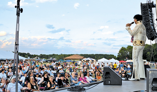 The Town of Niagara celebrated its 200th birthday all year with numerous special events, including a concert with `Elvis` last summer. (photo by Marc Carpenter)
